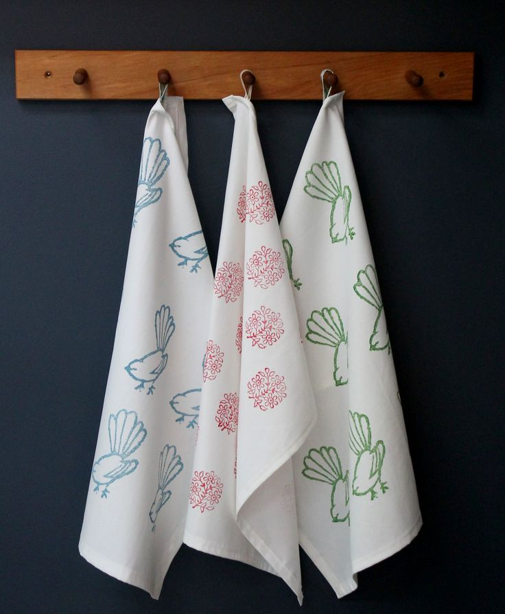 Crisp white tea towels almost to good to use.