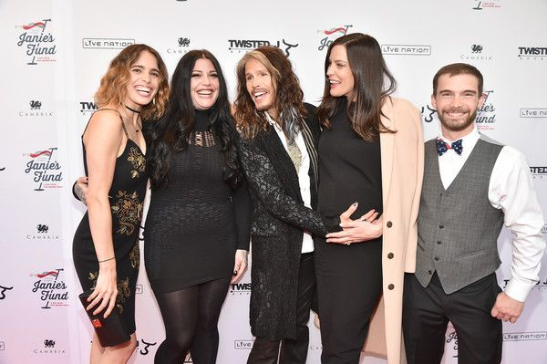 "Steven Tyler Photos - (L-R) Chelsea Tyler, Mia Tyler, Steven Tyler, Liv Tyler and Taj Tallarico attend ""Steven Tyler...Out on a Limb"" Show to Benefit Janie's Fund in Collaboration with Youth Villages - Red Carpet at David Geffen Hall on May 2, 2016 in New York City. - 'Steven Tyler...Out on a Limb' Show to Benefit Janie's Fund in Collaboration with Youth Villages - Red Carpet"