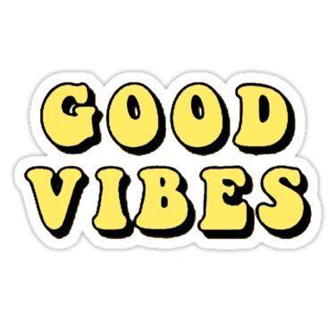 good vibes tumblr, aesthetic, yellow Sticker