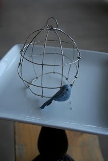 grey luster girl: Easter Birdcage and Glitter Bird Tutorial