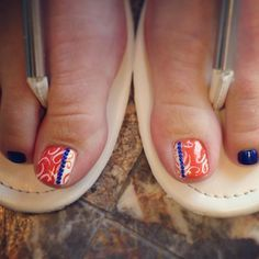 37 best denver broncos nail art images on pinterest denver denver broncos nail art prinsesfo Gallery