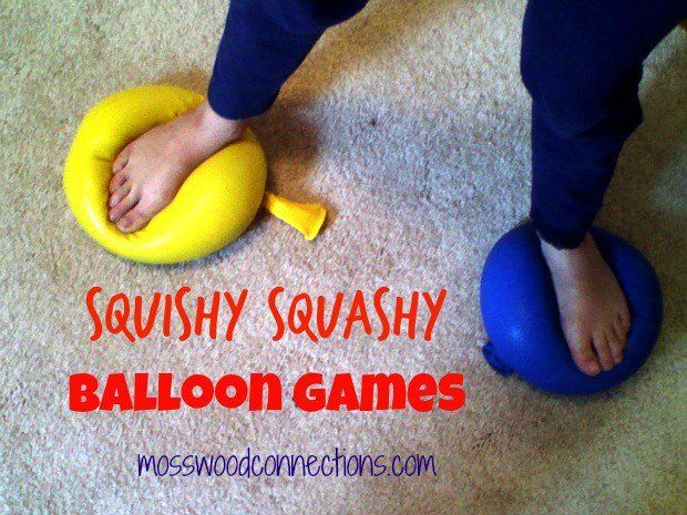 SQUISHY SQUASHY SENSORY BALLOON GAMES. Have fun playing with balloons using common household materials. Kids have so much fun playing sensory balloon games!