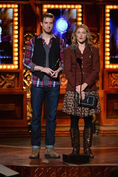 Arthur Darvill Photos Photos - Actors Arthur Darvill (L) and Joanna Christie from the cast of 'Once' speak onstage at The 67th Annual Tony Awards at Radio City Music Hall on June 9, 2013 in New York City. - 2013 Tony Awards - Show
