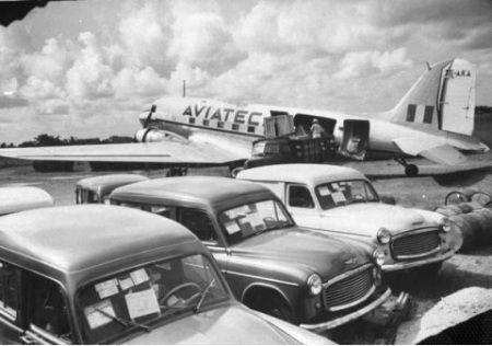Aeropuerto de Puerto Barrios 1953, Foto de Fernando Zaid. #Guatemala #History #SigloXX #Aereopuerto #CentralAmerica