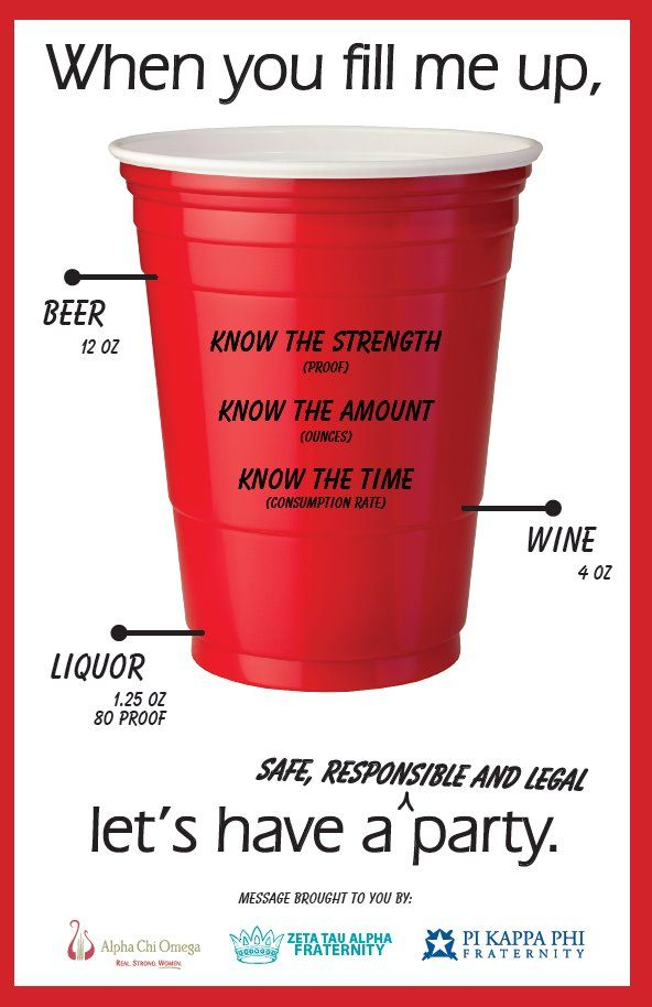 "otterrpopp:    ZTA sent this prevention poster to its chapters and all Fraternity/Sorority Life offices in the U.S. to prompt conversation about how quickly you can consume an unhealthy amount of alcohol in a short period of time while thinking it was ""only one or two drinks."""