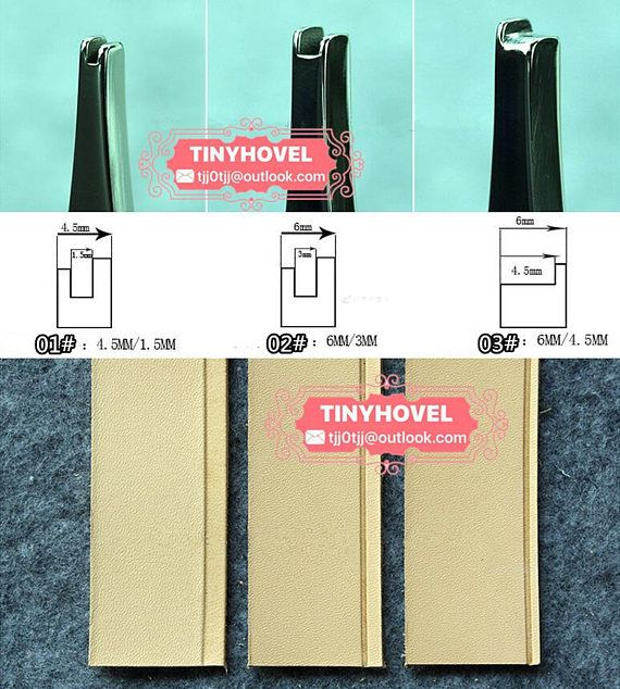 ancho 1.5mm/3mm/4.5mm ranurado planchas de cuero arrugando