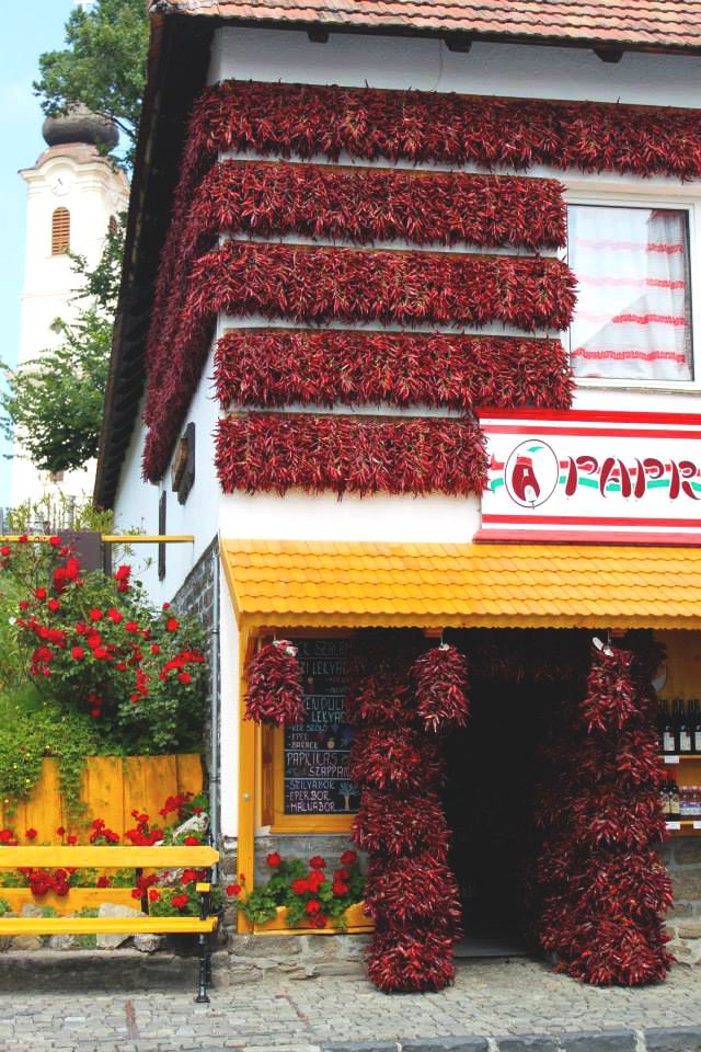 Paprika house in Tihany, Hungary | http://www.themiddlerack.com/p=930