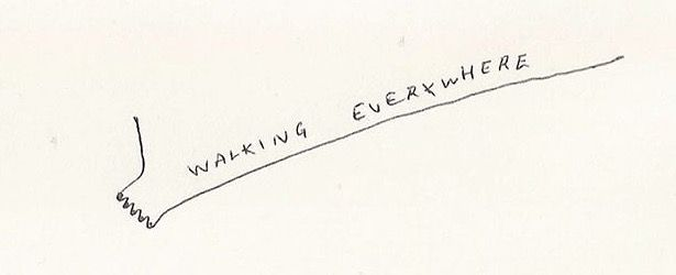 Walking everywhere