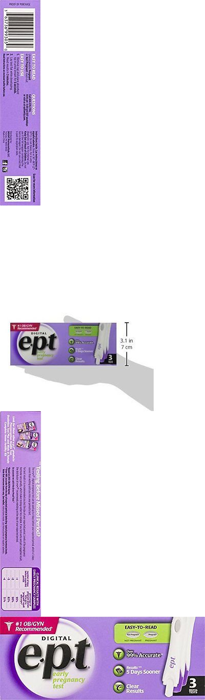 Pregnancy Tests: New Ept Early Pregnancy Test Digital 3 Count Free Shipping BUY IT NOW ONLY: $74.48