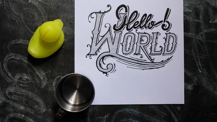 Hello World  #typography #lettering #handlettering #challigraphy