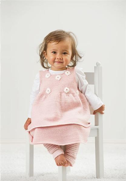 Lanett Baby 1113: Kjole - Sandnes Garn