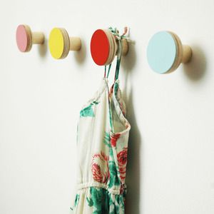 Wooden Wall Hooks by Chocolate Creative