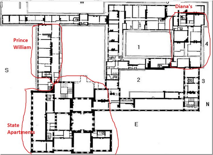 Prince William And Kate S Apartment Floor Plan 800 215 581