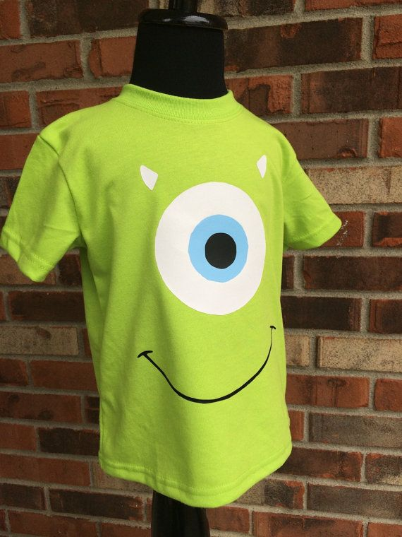 Mike Wazowski inspired shirt monsters inc by TaylorLynnsBoutique