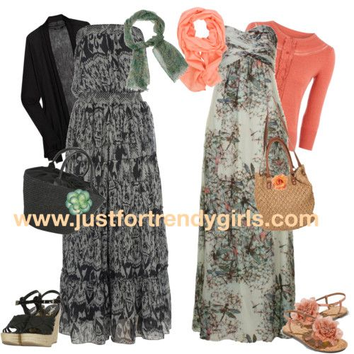 Spring is near, I love dresses and the peach/pink adds a little color which I love. I would wear these for sure but I dont think I would carry the bags, not feeling them ;)
