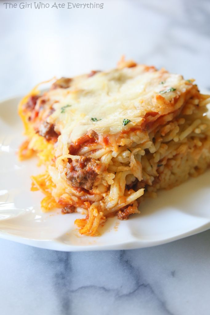 Baked Spaghetti - great for potlucks and to take to a family in need.