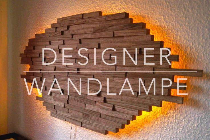 DIY Designer Wand Lampe selber bauen Anleitung  ★MrHandwerk ★
