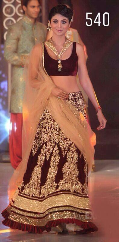 Indian Ethnic Bollywood Designer Party Wear Women Maroon Lehenga- Free Shipping #Unbranded #PartyWearFunctionsWeddingsetc