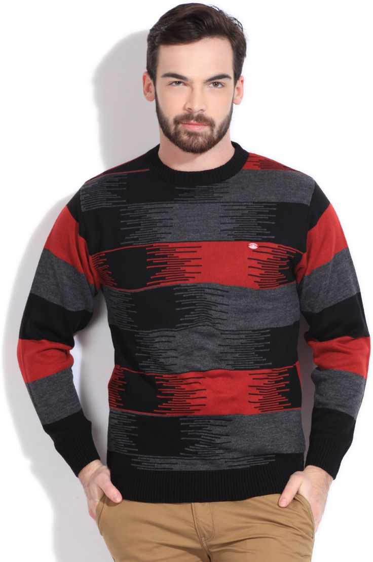 Integriti Printed Round Neck Casual Men's Sweater  #winter #jackets #checkered #fashion #integritifashion #sweaters