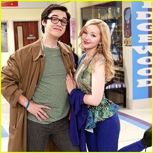 """Dove Cameron as Liv and Maddie Rooney and Joey Bragg as Joey Rooney on """"Liv and Maddie."""