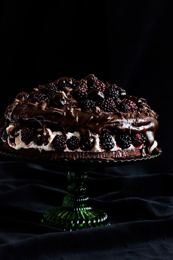 Double Chocolate Cake with Berries