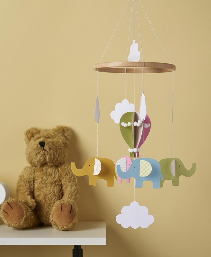 Make this cute elephant paper mobile for a baby's room!