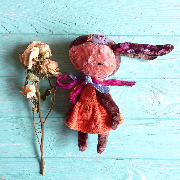 A personal favorite from my Etsy shop https://www.etsy.com/listing/385520600/bunny-rabbit-toy-brown-and-peach-stuffed