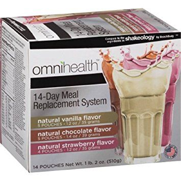 Omnihealth 14 Day Meal Replacement System, Vanilla Chocolate Strawberry - 14 Pouches