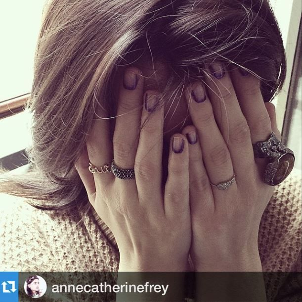 The lovely #AnneCatherineFrey in #BonheurJewelry 's 'Nikki' #Rings