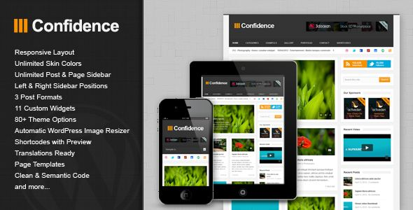 Confidence - Responsive Blog / Magazine Theme