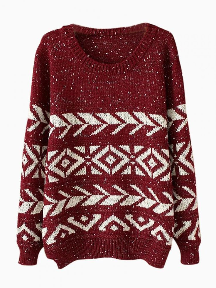 A not-so-ugly Christmas sweater!   #npsanta @Nursing Pillow   Winered Geometry Jumper In Twist Yarn