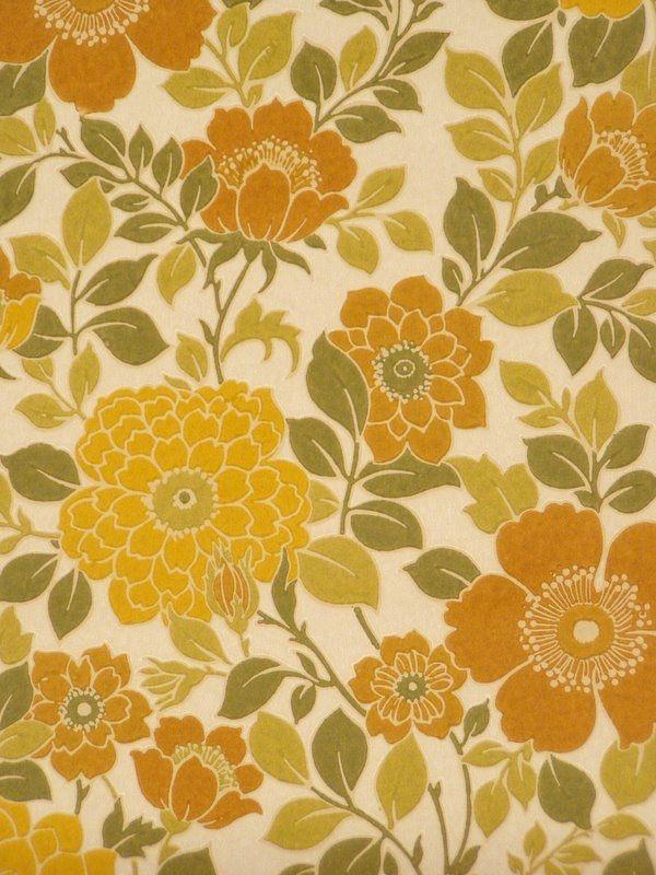 70s floral wallpaper Patterns Pinterest