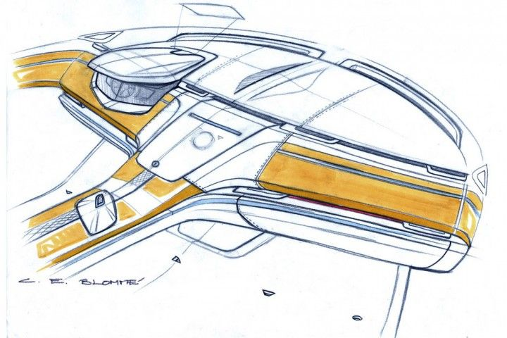 Volvo Concept You Interior Design Sketch.