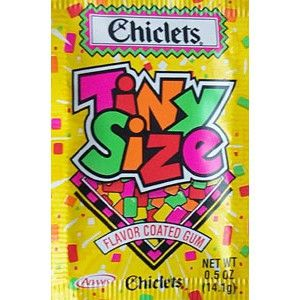 When it rains it's never wet, those tiny drops are real Chiclets! From a commercial for these.  Don't know who wrote it... not me!