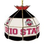 Trademark Global The Ohio State University 16 in. Black Hanging Tiffany Style Lamp