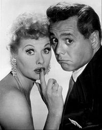 "Lucille Ball and Desi Arnaz created the ""rerun"" with the show ""I love Lucy."""
