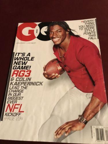 RG3 ROBERT GRIFFIN III Sept. 2013 GQ Magazine COLIN KAEPERNICK NFL KICKOFF