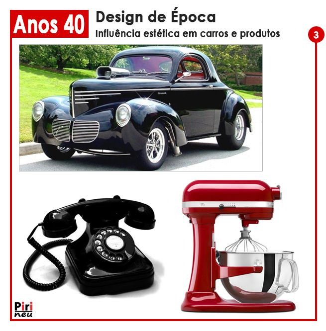 design de epoca anos carros e objetos vintagewar