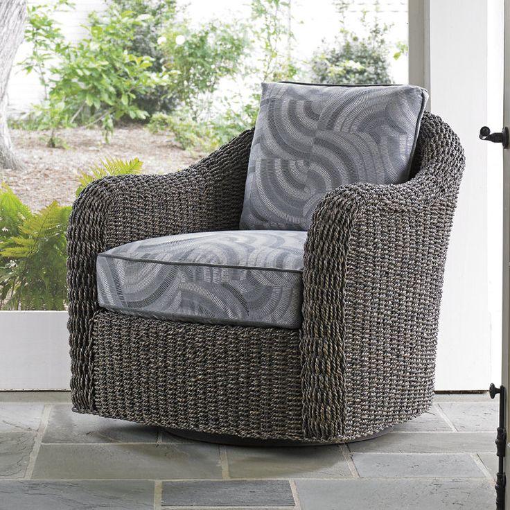 Oyster Bay Seabury Swivel Barrel Chair