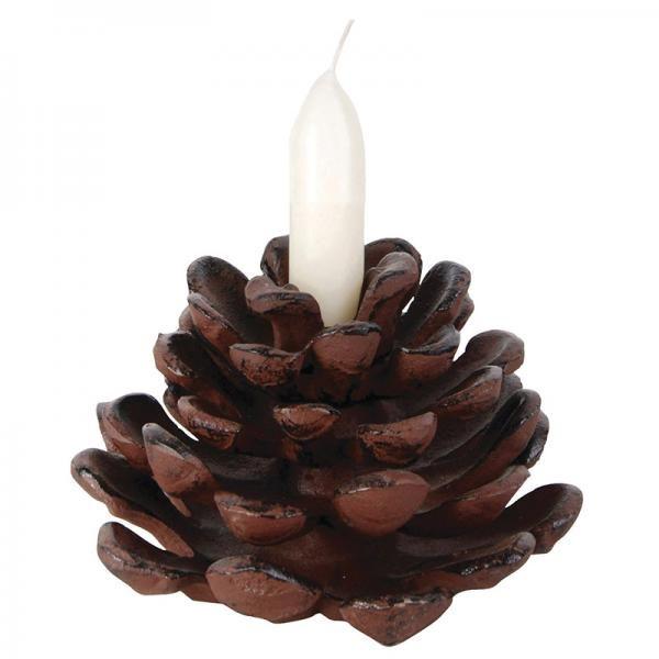 Fenyő toboz alakú öntöttvas gyertyatartó. Remek ajándék, akár Karácsonyra is.