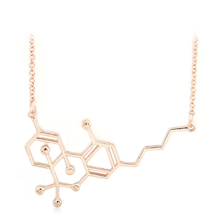 New Arrival Chemical THC Molecule Structure Formula Pendant Necklace Gift for Friend For Men and Women. Click visit to buy #PendantNeklace