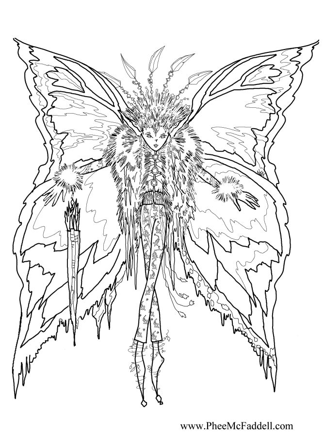 dark fairy coloring pages icicle fairy wwwpheemcfaddellcom - Coloring Pages Dragons Fairies