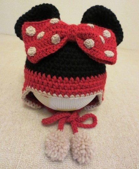 ミニーちゃんの帽子(キッズサイズ)の作り方|編み物|編み物・手芸・ソーイング|ハンドメイドカテゴリ(印刷用)| 手芸レシピ16,000件!みんなで作る手芸やハンドメイド作品、雑貨の作り方ポータル「アトリエ」