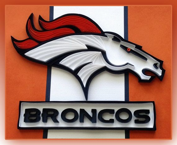 Quilling  Denver Broncos Logo by HalcyonCreativeGifts on Etsy