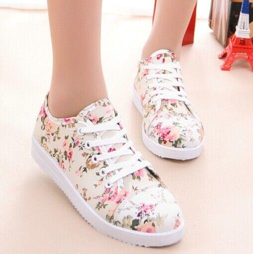 Barato Primavera sapatos baixos de lona sapatos femininos sapatos casuais planas tênis femininos, Compro Qualidade Tênis Estilosos diretamente de fornecedores da China:   Detalhes do produto