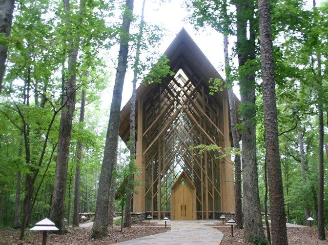 The most gorgeous chapel in AR. Anthony Chapel, Garvan Woodland Gardens, Hot Springs.