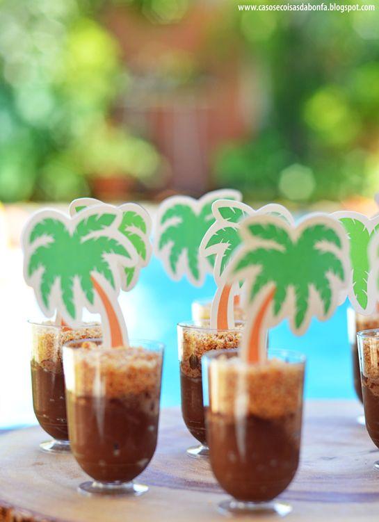 Casos e Coisas da Bonfa | almoço havaiano | ganache de chocolate com farofa de amendoim