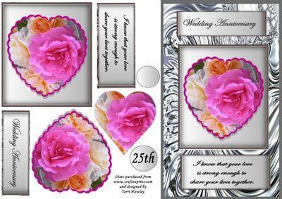 silver wedding plus on Craftsuprint - Add To Basket!