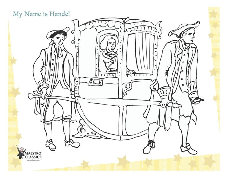 Free Gee Frideric Handel printable coloring page from