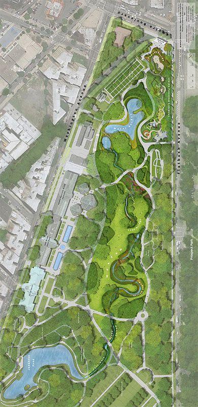 Brooklyn Botanic Garden Masterplan. Brooklyn, NY #LandscapeMasterplan